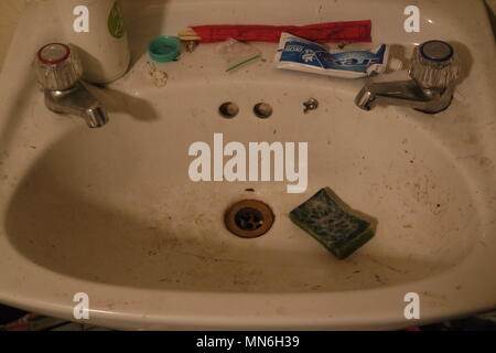 Dirty Sink - Stock Photo