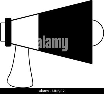 Pleasing Bullhorn Advertising Symbol In Black And White Colors Stock Vector Wiring Digital Resources Aeocykbiperorg