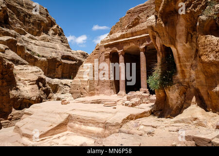 Garden Hall in the ancient Nabatean city - Stock Photo