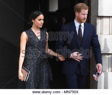 "File photo dated 23/04/18 of Prince Harry and Meghan Markle. Kensington Palace has responded to reports Ms Markle's father Thomas may not attend her wedding to Prince Harry, saying: ""This is a deeply personal moment for Ms Markle."" - Stock Photo"