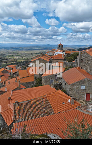 Monsanto rooftops. castelo Branco, Portugal - Stock Photo