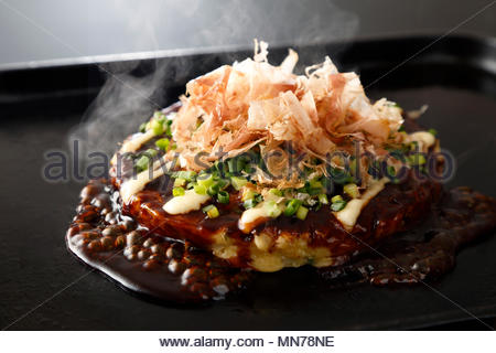 Okonomiyaki - Stock Photo