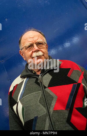 Turin, Italy. 13th May, 2018. Turin. Walter Siti at the book fair. in the picture: Walter Siti Credit: Independent Photo Agency/Alamy Live News - Stock Photo