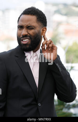 Cannes, France. 15th May, 2018. John David Washington at the 'Blackkklansman' photocall during the 71st Cannes Film Festival at the Palais des Festivals on May 15, 2018 in Cannes, France. Credit: John Rasimus/Media Punch ***FRANCE, SWEDEN, NORWAY, DENARK, FINLAND, USA, CZECH REPUBLIC, SOUTH AMERICA ONLY*** Credit: MediaPunch Inc/Alamy Live News - Stock Photo