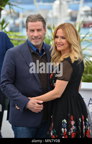 Cannes, France. 15th May, 2018. CANNES, FRANCE. May 15, 2018: John Travolta & Kelly Preston at the photocall for 'Gotti' at the 71st Festival de Cannes Picture Credit: Sarah Stewart/Alamy Live News - Stock Photo