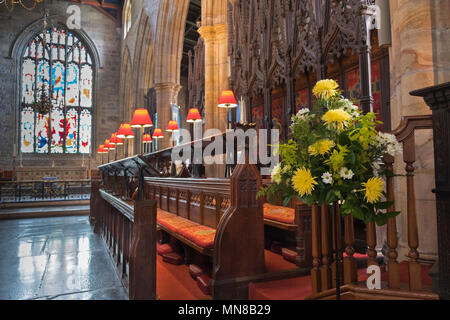 Lancaster Priory Church. Lancaster Lancashire UK - Stock Photo
