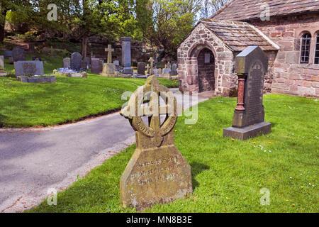 St Peter's Church, Heysham Village, Morecambe Bay, Lancashire, UK - Stock Photo