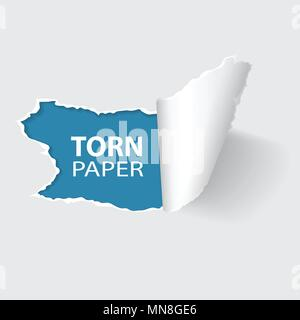 Torn Hole on Paper - Stock Photo