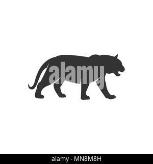 Tiger silhouette logo, vector illustrations. - Stock Photo
