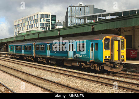Arriva Trains Wales Class 150 150240 Cardiff Central Railway Station, South Wales, UK. - Stock Photo