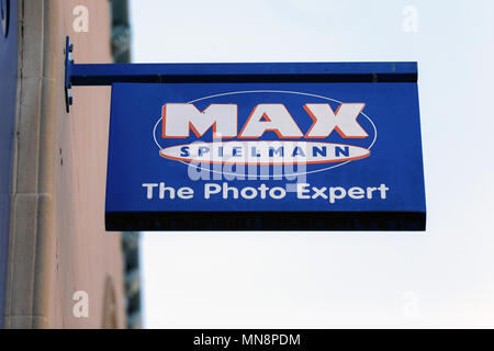 A branch of the Max Spielmann photography chain / Max Spielmann logo, Max Spielmann sign, Max Spielmann high street shop. - Stock Photo