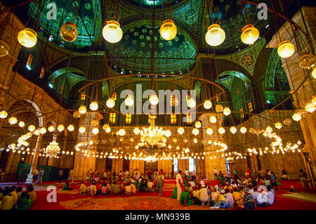 Cairo, Egypt; Prayer hall of the Mosque of Muhammad Ali Pasha or Alabaster Mosque