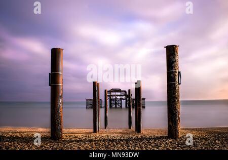 West Pier Brighton - Stock Photo