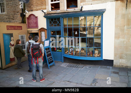 sally lunns eating house and museum in the oldest house in Bath England UK - Stock Photo