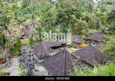 Gunung Kawi, ancient temple and funerary complex in Tampaksiring, Bali, Indonesia - Stock Photo