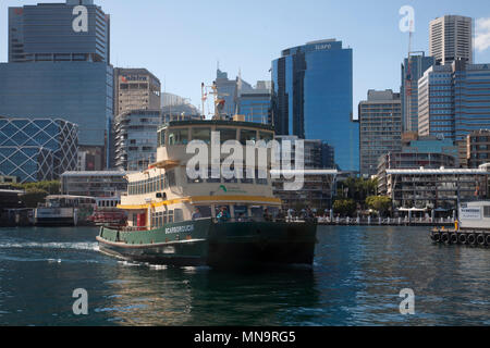 ferry in darling harbour sydney new south wales australia - Stock Photo