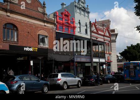 shops darling street east balmain sydney new south wales australia - Stock Photo