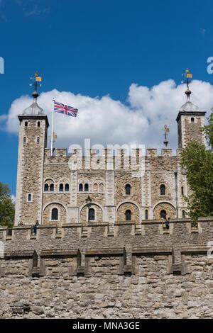 the tower of London, London, England, uk. - Stock Photo