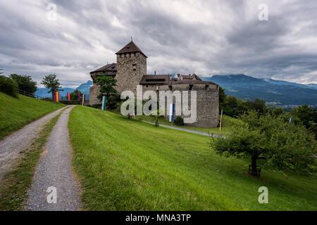Principality of Liechtenstein - Vaduz Castle. Fürstentum Liechtenstein - Schloss Vaduz - Stock Photo