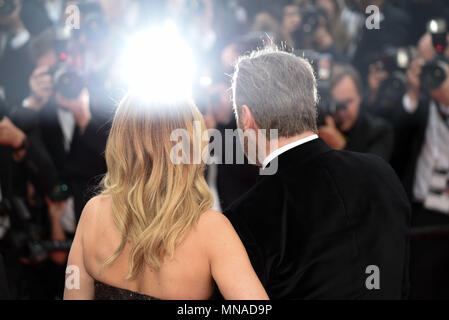 Cannes, France. May 15, 2018 - Cannes, France: John Travolta, Kelly Preston attend the 'Solo: a Star Wars Story' premiere during the 71st Cannes film festival. Credit: Idealink Photography/Alamy Live News - Stock Photo