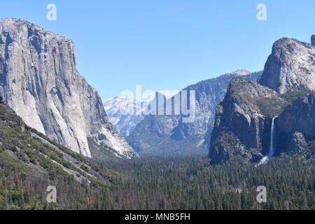 Yosemite Valley seen from Tunnel View, Yosemite National Park, California - Stock Photo