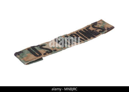 US MARINES uniform badge isolated on white background