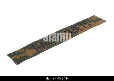 marine cadets uniform badge isolated on white background
