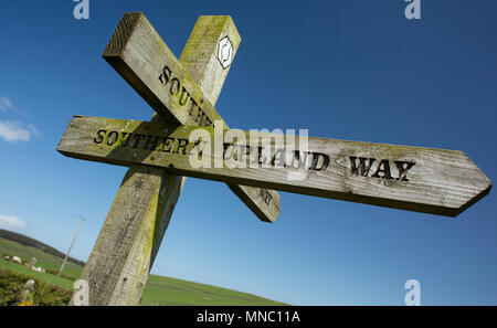 The Southern Upland Way is Britain's first official coast to coast long distance foot-path. The path stretches 212 miles (340 km) from Portpatrick on  - Stock Photo