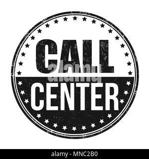 Call center grunge rubber stamp on white background, vector illustration - Stock Photo