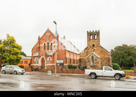 GREYTOWN, SOUTH AFRICA - MARCH 22, 2018: The historic Methodist Church, built in 1877, in Greytown in the Kwazulu-Natal Province - Stock Photo