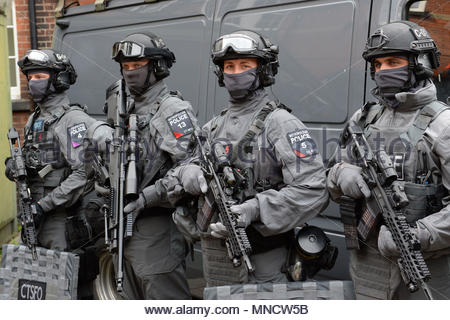 Embargoed to 0001 Thursday May 17 File photo dated 03/08/16 of armed police as planned rise in the numbers of elite counter-terrorist police marksmen has yet to hit its target as a senior officer admitted challenges in recruitment. - Stock Photo