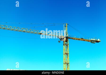 Falcon Tower Crane Services, construction crane, building site, Hunstanton, Norfolk, UK, England, detail, building, industry - Stock Photo
