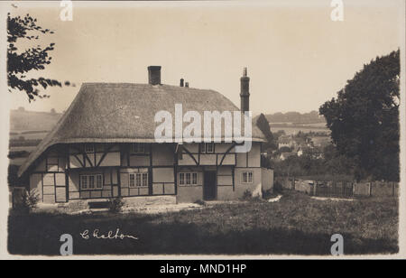 Vintage Photograph of The Red Lion Public House, Chalton, Hampshire, England, UK - Stock Photo
