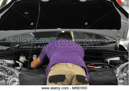 Embargoed to 0001 Thursday May 17 File photo dated 6/10/2011 of a mechanic at work. New MOT test rules coming into force on Sunday are causing confusion among some motorists, a survey suggests. - Stock Photo