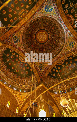 Inside the Great Mosque of Muhammad Ali Pasha, or Alabaster Mosque, or Muhammad Ali Mosque, is situated in the Citadel of Cairo in Egypt, North Africa