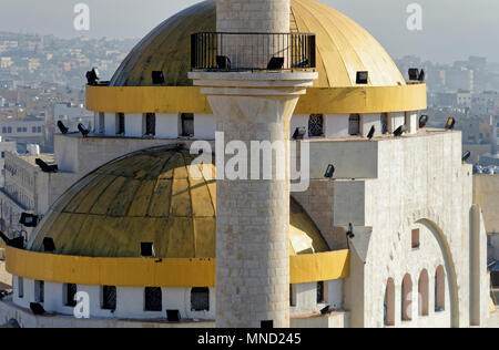 Zoomed view of the mosque of Madaba, jordan - Stock Photo