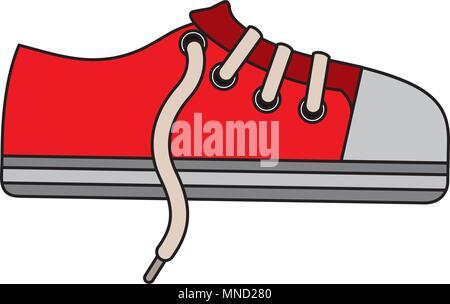 sport shoe sneaker laces cartoon - Stock Photo