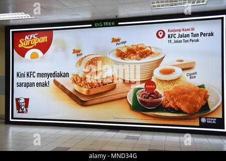 Kentucky Fried Chicken Billboard, Kuala Lumpur - Stock Photo