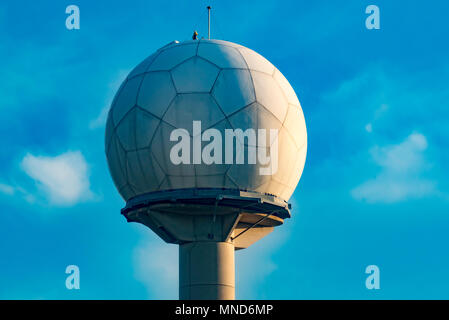 The Doppler or weather radar at Sydney Airport in Australia - Stock Photo