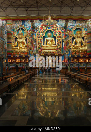 Namdroling Monastery - at Kushalnagar (Bylakuppe) - Coorg, India - Stock Photo