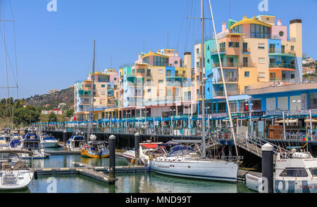 Albufeira marina, Algarve, Portugal - Stock Photo