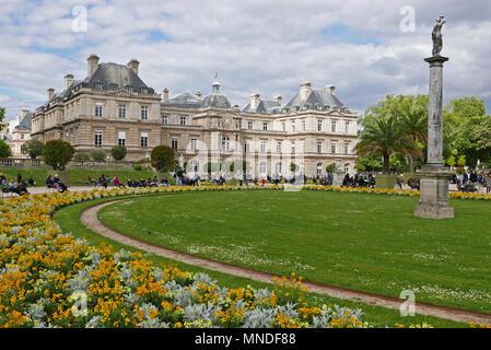Palais du Senat in Luxembourg garden, Paris, France, Europe - Stock Photo