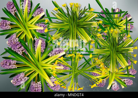 The flowers background wit plexus design and cloudy texture digital art design.meaning of love to universe. - Stock Photo