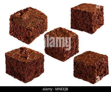 Chocolate Brownie Squares - Stock Photo