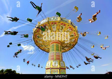 Kättingflygaren Swing Ride, Gröna Lund Amusement Park, Djurgården, Stockholm, Sweden - Stock Photo