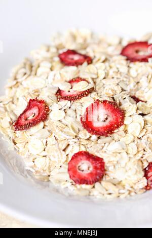 Muesli with sun-dried strawberries - Stock Photo