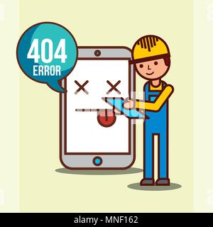404 error page not found - Stock Photo
