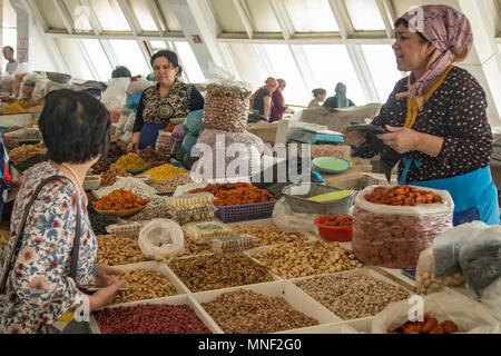 Inside Chorsu Bazaar, Tashkent, Uzbekistan - Stock Photo
