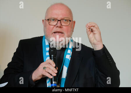 Roman catholic Cardinal REINHARD MARX, chairman of the Catholic German Bishops' Conference, during the 101st Katholikentag on May 13th 2018 in Münster, Germany - Stock Photo