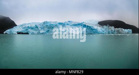 Glacier tongue, Spegazzini Glacier on Lake Argentino, Parque Nacional Los Glaciares, El Calafate, Province of Santa Cruz - Stock Photo